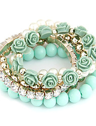 Women's Persona Beads Collection Bracelet Alloy/Resin Imitation Pearl/Rhinestone