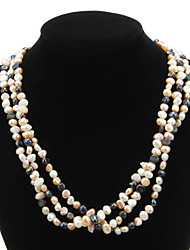 Pretty Natural Pearl Strand Women's Necklace