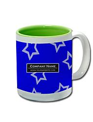 Personalized Blue Star Pattern Green Mugs