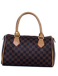 AVRIL MONG Frauen Import Leder Einfache Boston Handtasche (29 * 18 * 13)