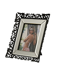 "10""Black Floral Frame Family Style Rectangle Picture Frame"