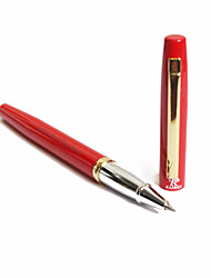 Personalized Red Classic Black Metal Pen encre gel