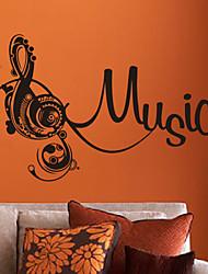 Música Clef agudo pegatinas de pared