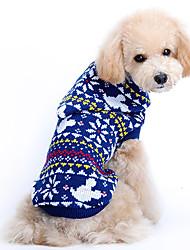 Hunde Pullover Blau Hundekleidung Winter / Frühling/Herbst Schneeflocke Niedlich / Weihnachten