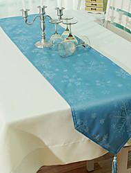 Chemin de table, polyester / bleu, série de Noël