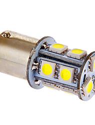 BA15S/1156 13x5050SMD 3W 117LM 6000-7000K fresco White Light Bulb LED para carro (DC 12V)