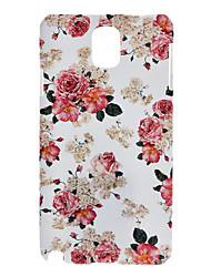 Rose Painting Pattern Plastic Hard Back Case Cover for Samsung Galaxy Note 3