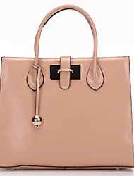 SCIDACA Elegant Gorgeous Cow Leather Pink Tote