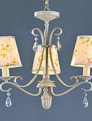 Umei ™ flor padrão de candelabro, 3 luz, processo de pintura de ferro rústico