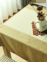 Elegant Table Cloth, Polyester Coffee