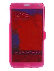 Transparente TPU Pattern Soft Cover Gehäuse mit Face Cover und für Samsung Galaxy Hinweis3 Schnalle