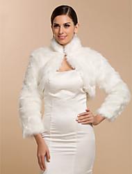 Coprispalle in pelliccia / Wraps Wedding Cappotti / Giacche Maniche lunghe Pelliccia ecologica BiancoMatrimonio / Da sera / Per l'ufficio