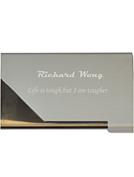 Personalized Father's Day Gift Siler Metal Engraved Business Card Holder