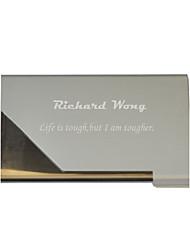 cartão de visita titular dia siler dom de metal gravada personalizada do pai