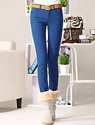 Women's Pants , Cotton/Spandex Casual/Work Yihuasha
