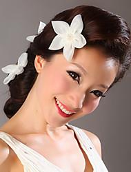 Organza Flowers Wedding Headpieces