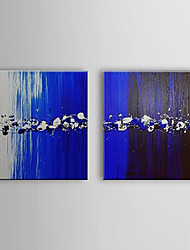 Hand Painted Oil Painting Abstract Water Drop with Stretched Frame Set of 2 1311-AB1066