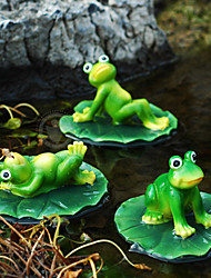 "6""Three Frog Playing In The River Polyresin Cillectibles(3 Pcs Set)"