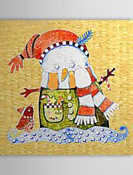 Cadeau de Noël de vacances Peinture à l'huile prêt à accrocher Doll en hiver prêt à accrocher