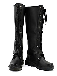 The Graver Robbers' Chronicles The Blind Black PU Leather Boots