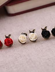 Rosas Moda assimétrica brincos (mais cores)