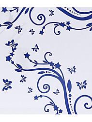 Personnalisé Motif bleu royal papier pétale Cônes - Ensemble de 12