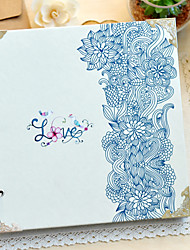 "Amor Floral Azul Papel 10 ""12"" Álbum de fotos (30 Pocket)"