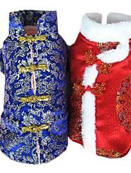 Adorável estilo chinês do dragão de Brasão para Animais de estimação Cães Quente (variadas cores, tamanhos)