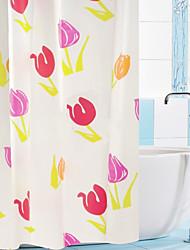 "Shower Curtain Colourful Tulip Print W71 x L71"""