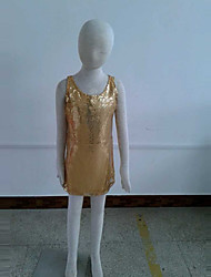 Shiny oro paillettes bambini costume danza