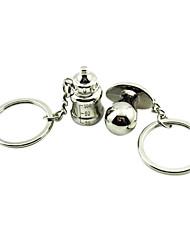 Стиль Пара свадебных бутылочка для кормления Shaped Брелки серебряные