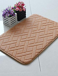 "Bath Mat Memory Foam Diamonds 16x24"" Light Tan"