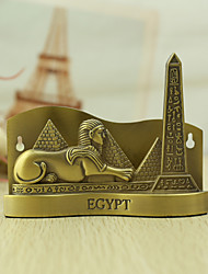 Personalized Bronze the Sphynx and Pyramid  Style Business Card Holders