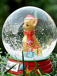 Lovely Chihuahua Decorative Crystal Ball Ornament Christmas Gift for Pet Lovers