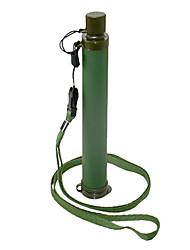 Outdoor ABS Green Army Survival filtração de água potável purificador Pip Palha