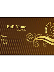 200pcs Personalized 2 Sides Printed Matte Film Classical Style Business Card