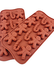 Silicone Cane and Snowman Shape Chocolate Tray (Color Randoms)