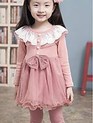 Girl's Clothing Set,Solid Cotton / Mesh Winter