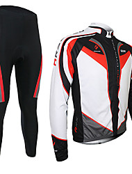Arsuxeo Cycling Jersey with Tights Men's Long Sleeve BikeBreathable Thermal / Warm Quick Dry 3D Pad Limits Bacteria Reflective
