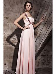 A linha de cintas de espaguete rosa Prom Dress