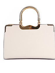 baimulin Women's White Composite Skin Vintage Handbag 33*12*22.5cm