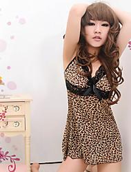 Mulheres Sexy Leopard emenda Babydoll