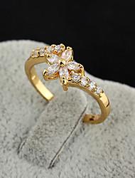 Yueli Frauen-18K Gold Zirkon Ring J0512