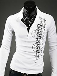 Impero degli uomini del metallo di modo libero di stampa New Long Sleeve Polo ShirtZT1119