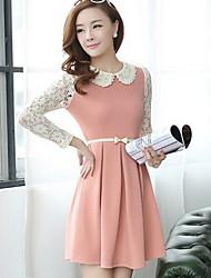 Women's Dresses , Cotton/Lace Casual YGR