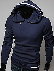 Men's Long Sleeve Hoodie & Sweatshirt , Polyester