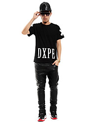Hip Hop Pantaloni in pelle Zipper Pu Uomo