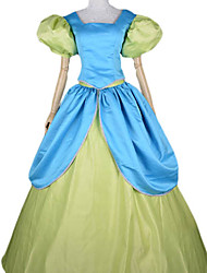 Cinderella Evil Step Sisters Blue & Green Satin Women's Halloween Costume