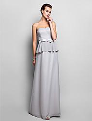 Sheath/Column Sweetheart Floor-length Chiffon Evening Dress (759801)