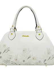 Kate&Co Women's Fashion Genius Leather White Shoulder Bag